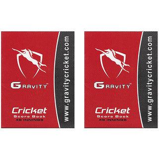 Gravity Cricket Scorebook 48 Innings (Pack of 2 Scores 96 Matches)