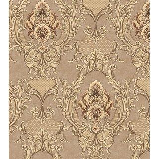 Style UR Home- Damask Wallpaper - Gold- 57 SqFt