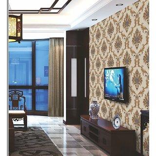Style UR Home - Floral Damask Wallpaper -57 Sqft