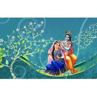 3D Customized  Radha Krishna Wallpaper