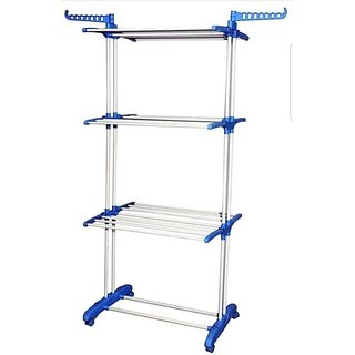 DOLPHIN Prime Cloth Drying Stand - 2 Poll Three Layer