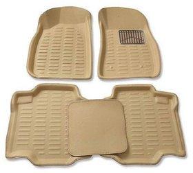 Gromaa  4D Beig.1  Car 4D Beige Color Foot Mat For Mahindra Verito Vibe (CS)