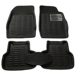 Gromaa  4D Blk.15 Car 4D Black Color Foot Mat For Hyundai Getz Prime