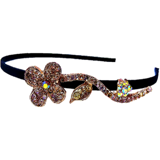 Proplady Partywear Stylish Rhinestone Hair Band/Head Band for Girls & Women|Wedding Hair Accessories|Designer Hair Bands