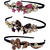 Proplady Partywear Stylish Rhinestone (Pack of 3) Hair Bands/Head Bands for Girls  WomenWedding Hair AccessoriesDesigner Hair Bands
