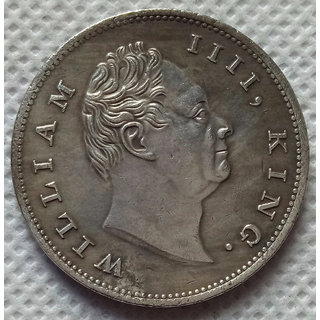 British India William IIII,King. 1835 One Rupee East India Company Silver Coin