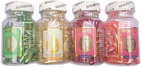Aloe Vera  Vitamin E Facial Oil Capsules , 60 Capsules each (Pack of 4) - Multicolored