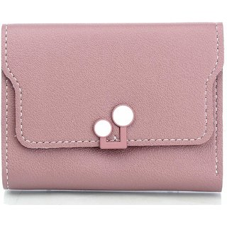 Mammon Women's PU Money Wallet (3366-Peach, Size-11x9x2 CM)