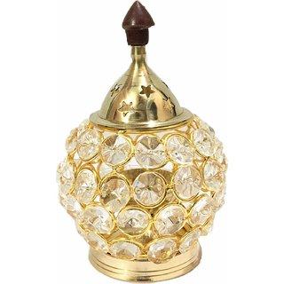 Haridwar Astro Brass Gallery Diamond Crystal Deepak, Dia, Akhand Jyot