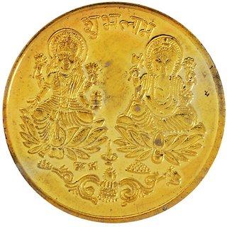 Haridwar Astro Laxmi Ganesh Gold Plated Coin