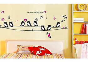 Walltola Cute Singing Birds Wall Sticker (51X35 Inch)