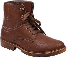 Knoos Men's Brown Synthetic Leather Casual Boot