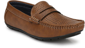 Knoos Men's Tan Synthetic Leather Casual Loafer - 141384572