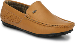 Knoos Men's Tan Synthetic Leather Casual Loafer - 141384589