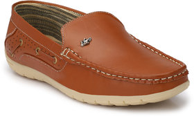 Knoos Men's Tan Synthetic Leather Casual Loafer - 141384675