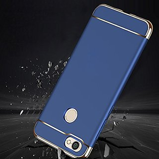 MOBIMON RedMi Y1 Hard PC Shell Electroplate Matte 3 in 1 Anti Scratch Proof 360 Degree Back Cover Case (Blue)