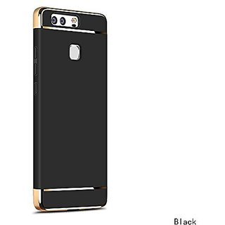 MOBIMON Honor 9 Lite Hard PC Shell Electroplate Matte 3 in 1 Anti Scratch Proof 360 Degree Back Cover Case (Black)