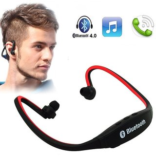 Wireless Bluetooth Headset BS19C/Headphone Sports Bluetooth Headset  with Micro Sd Card Slot and FM Radio  MP3 Jogging Bluetooth Headset