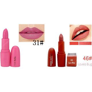 Miss Rose Combo -Creame Matte Makeup Lipstick Long lasting And Waterproof Lipstick