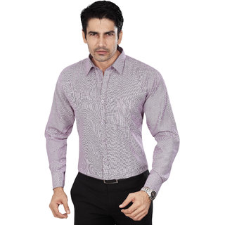 Dudlind Men's Purple Slim Fit Formal Shirt