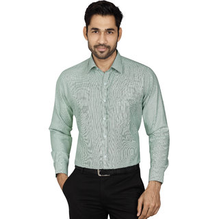 Dudlind Men's Green Slim Fit Formal Shirt