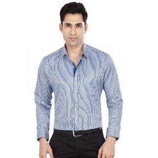 Dudlind Men's Blue Slim Fit Formal Shirt