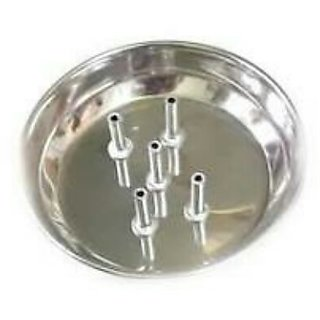 aggarbatti stand (set of 1)silver color