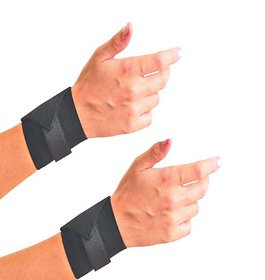 Emm Emm Pack of 2 Pcs Finest Wrist Support With Heavy Honey Comb Elastic Fabric and Velcro Closure