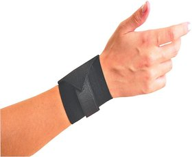 Emm Emm Finest Wrist Support With Heavy Honey Comb Elastic Fabric and Velcro Closure (1 Pc)
