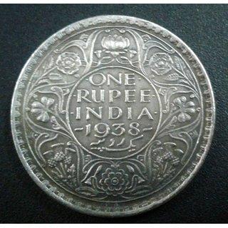 British India - RARE 1 One Rupee 1938 King George VI Coin