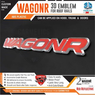 CarMetics WagonR 3D Roof Rail Letters for Maruti Suzuki Wagon R Accessories  logo  Emblem  Decals