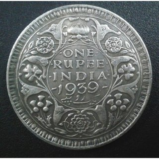 British India - RARE 1 One Rupee 1939 King George VI Coin