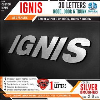 Carmetics Ignis Rear Bumper  3D Letters Sticker Logo Emblem Silver Brushed - 3D Sticker Accessories  logo  Emblem  Decal
