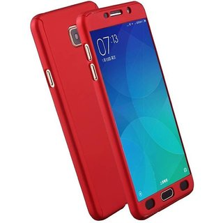 new style 1ea1c 822d6 Front & Back Case 360 Degree Full Mobile Protection Cover Comes With  Tempered Glass (Dual Protection, Plastic) For Samsung Galaxy C7 Pro ( RED )