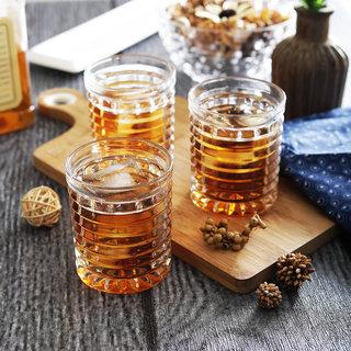 Brine Hawaiian Cut Whisky Rock Glasses 330 ml - Set of 6