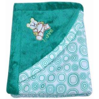 Printed Crib Mink Blanket (Multicolour)