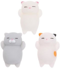 AJI  Stress Reliever Squishy Cats Mini Moch Toys (Random Colour)