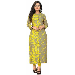 Vaikunth Fabrics Kurti In Multicolor And Rayon Fabric Printed Kurti  For Womens VB-KU-192