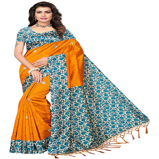Linaro Lifestyles Women's Mysore Silk With Tessels Saree With Blouce Piece(LL000715)