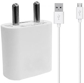 2 Amp Mobile Charger for Vivo Y27L Charger With Micro USB Cable ( 2 Ampere, White )