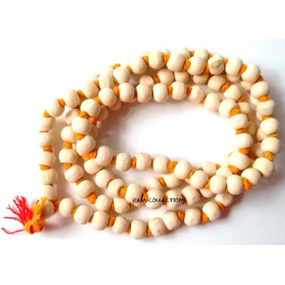 HINDU JAPA MANTRA TULSI MALA 108+1 BEADS RARE FOR PRAYER YOGA MEDITATION ROSARY