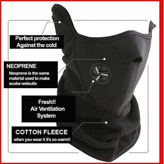 Neoprene - Anti Pollution Anti Dust Biker Mask