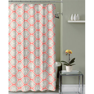 Lushomes Digital Celosia Design Shower curtain with 12 eyelets and 12 hooks (Single pc 71 x 78 180 x 200 cms)