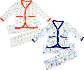 Jisha Fashion Unisex Cotton Baby Set (6M to 24M)(Mercy) (Pack of 2)