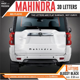 CarMetics Mahindra 3d Letters 3d stickers for Mahindra Nuvo Sport emblem logo Badge sticker decal Mahindra car accessori