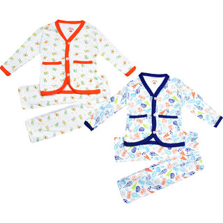 Jisha Fashion Unisex Cotton Baby Set (6M to 24M)(Mercy) (Pack of 2)