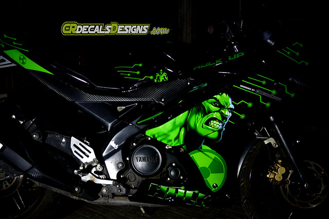 Buy YAMAHA R15 V2 Full Body Wrap Custom Decals/Stickers HULK Edition
