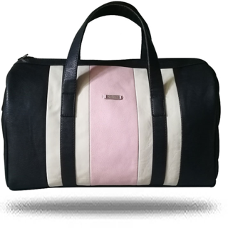 Pink and Black Duffel Bag By Strutt