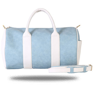 Light Blue and White Duffel Bag By Strutt