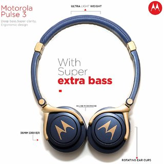 Motorola Pulse 3 Headphones (Blue)
